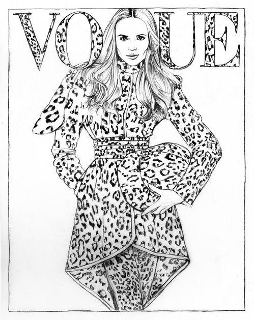 Natasha Poly par Patrick Demarchelier pour Vogue Paris - illustration de Cédric…