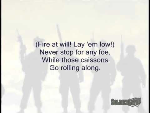 The Caisson Song (Original US Army Song) - Singalong with Lyrics - YouTube