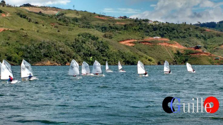 Carrera de veleros Optimus - Club Cean - Lago Calima-