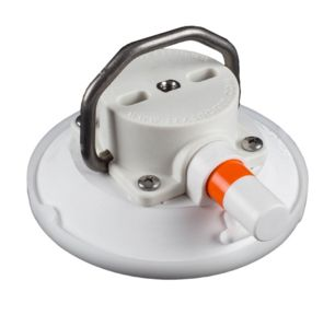 114 mm SeaSucker White Vacuum Mount with Stainless Steel D-Ring rated to 45 kg