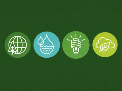 Earth, Water, Light and Cloud icons by Richard Perez (@SkinnyShips)