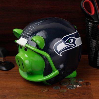 Seattle Seahawks Helmet Piggy Bank - Navy Blue.... But mommmy!!! Iiiii wwaaaannnnttttt iiiittttttt!!!!!!!