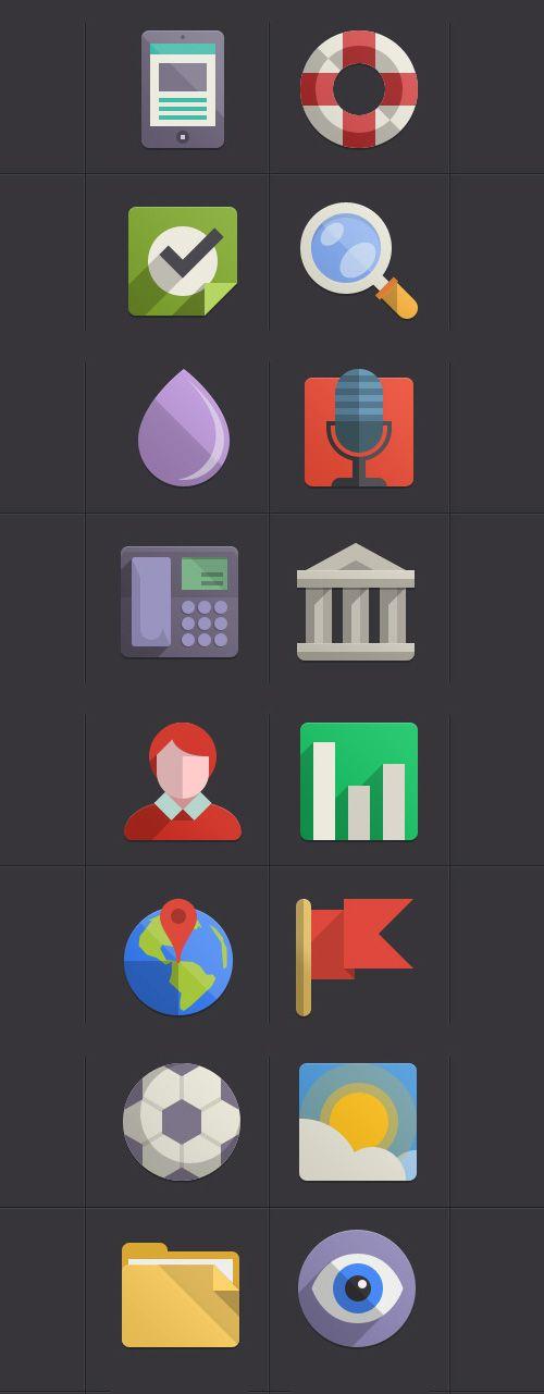 Flat UI Design Elements-42 #flatdesign #freebies #icons