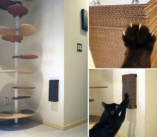 25 best ideas about cardboard cat scratcher on pinterest for Diy cat tower cardboard