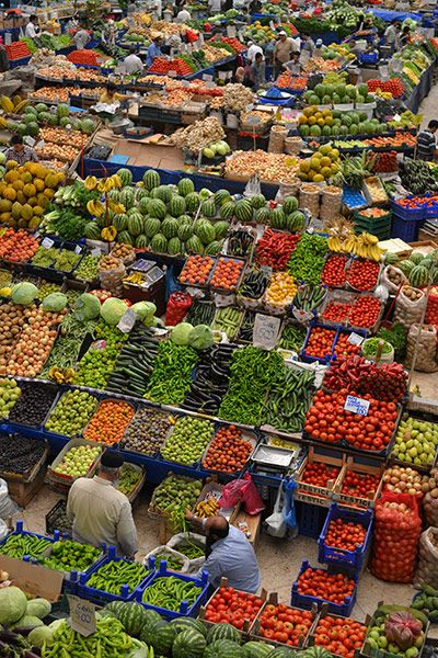 Photo by James Lidgett: The main fruit market in Konya, Turkey