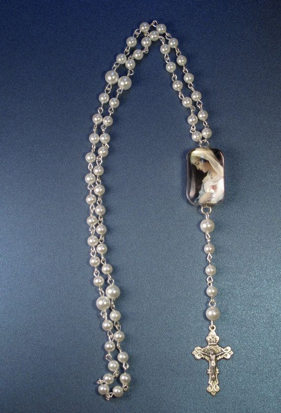 Madonna Image Wearable Linked Rosary with by AWingAndAPrayerGifts