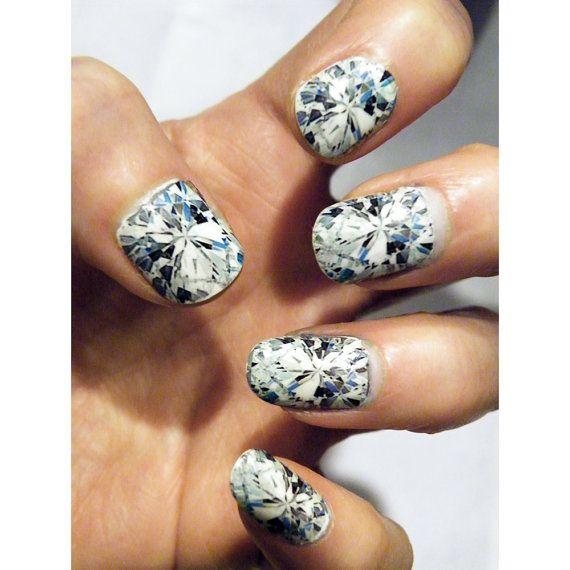 Diamond Nail Art Nails Manicure Diamonds Gem Stone by tempusfugit, $5.00