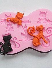 silicone bakeware gatto bello di cottura stampi per gelatina torta al cioccolato (colori casuali)