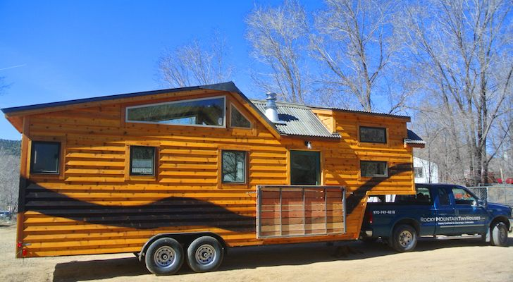 Tiny House On 5th Wheel Trailer | Tiny House Built On A 32 Foot Long Goose Neck Fifth Wheel Trailer