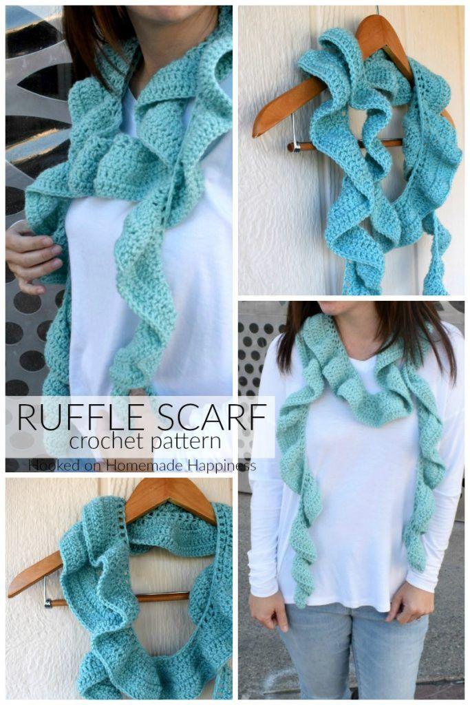 Ruffle Scarf Crochet Pattern 소품 Pinterest