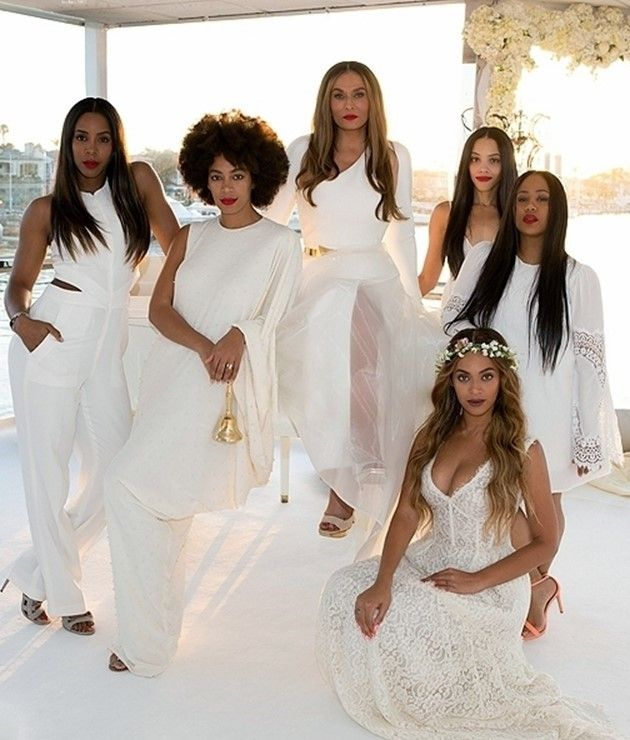 Tina Knowles Wedding Pictures Are Magical. Her bridesmaids Beyonce, Kelly Rowland, Solange, Angie Beyince and Bianca Lawson. Click to see all of the photos from the Lawson wedding!