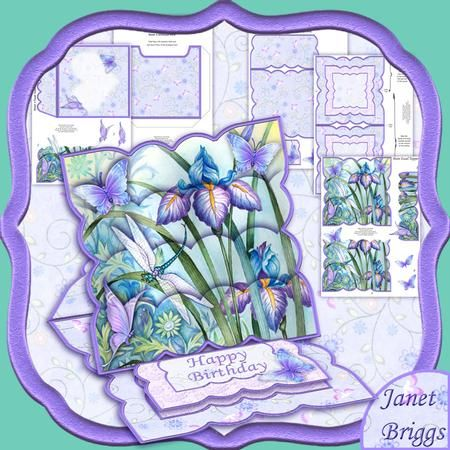 IRIS & DRAGONFLY Easel Card Kit
