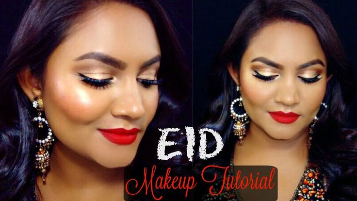 Eid Makeup Tutorial | Gold Eyes & Red Lips | Beauty by Ish