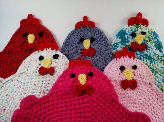 Crochet Pattern for the Swanky Chicken Trivet by MommasGotMojo, $3.50