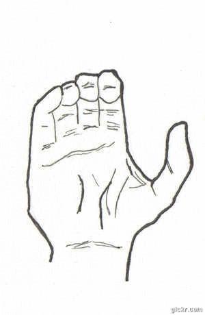 Lengua de señas (palabra Color)  Ilustración