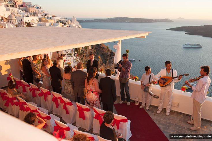 Santorini wedding venue #Loucas hotel