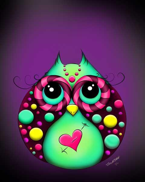 Owl Painting - CUTE