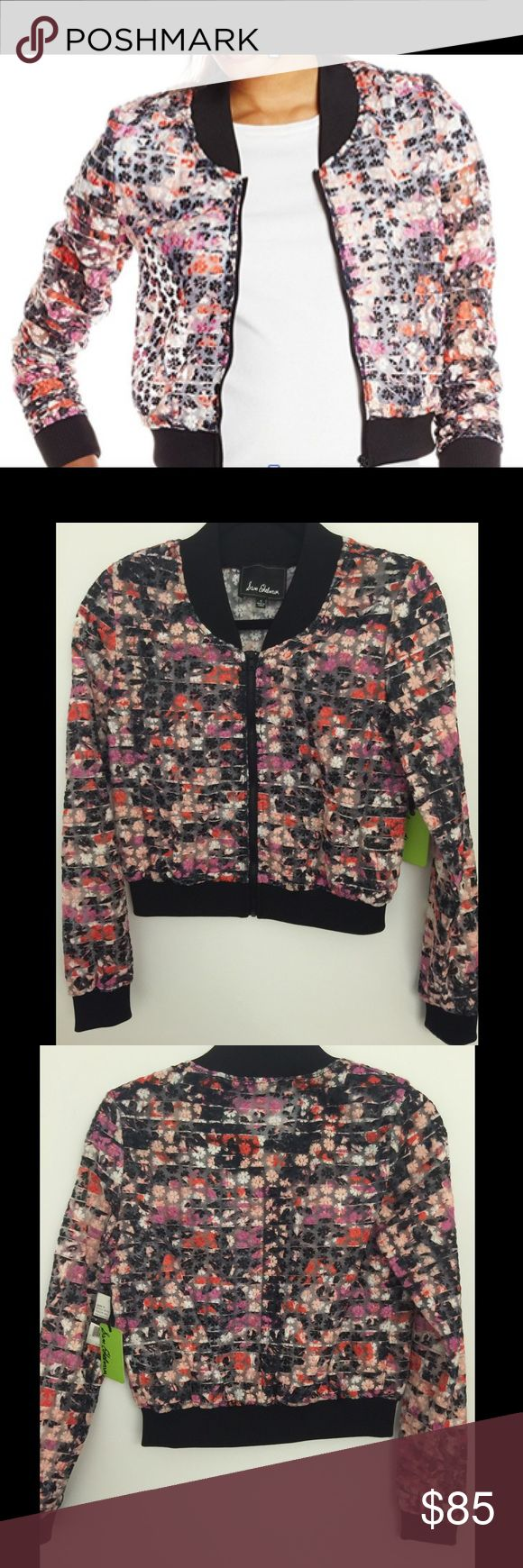 NWT Sam Edelman Embroidered Organza Jacket - S NWT Sam Edelman Women's Embroidered Organza Baseball - S. Baseball-inspired jacket in floral print featuring zip-up front and cropped silhoue and textured flowers coming off jacket. Perfect with white tee and black jeans. Retail: $149 / Current Retail: $111 / Merc - $75   100% Nylon Imported Machine Wash Baseball-inspired jacket in floral print featuring zip-up front and cropped silhouette Solid-tone ribbed cuffs, hem, and collar Sam Edelman…