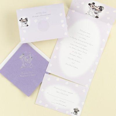 Disney Mickey And Minnie Full Body Wedding Invitation