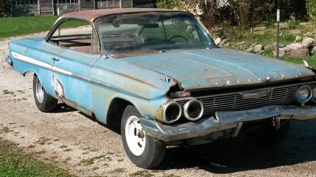 Barn Find 1961 Chevrolet Impala Bubble Top With Images