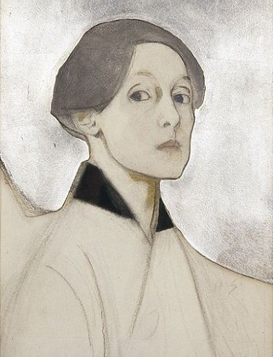Helene Schjerfbeck, 'Self-Portrait with a Silver Background', 1915