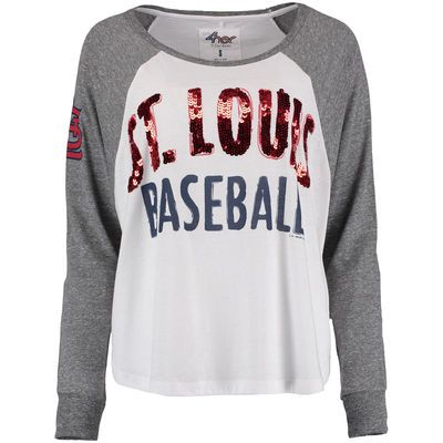 Women's St. Louis Cardinals G-III Sports by Carl Banks Gray Triple A Long Sleeve T-Shirt
