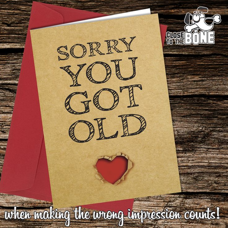 167 best birthday greetings card comedy rude funny humour 148 sorry you got old birthday card greeting card funny rude humour joke m4hsunfo