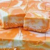 Orange Creamsicle Fudge... I think I need to make this for my honey...