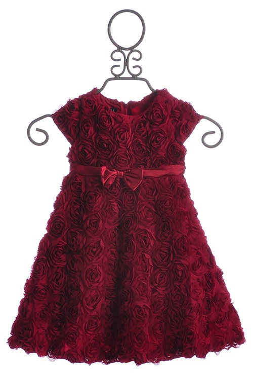 Biscotti Rose Red Girls Holiday Dress Standing Ovation
