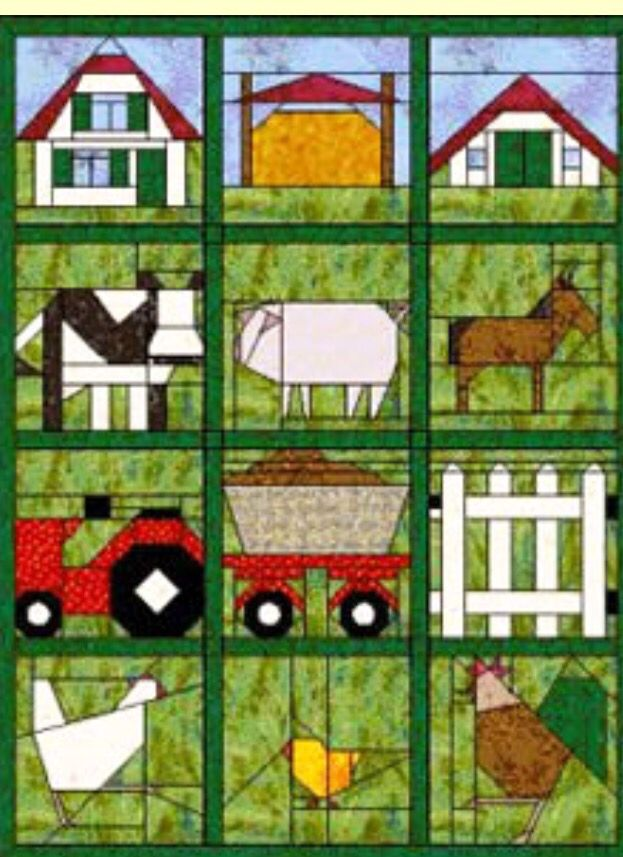 Life On The Farm Paper Pieced Quilt Patterns Paper