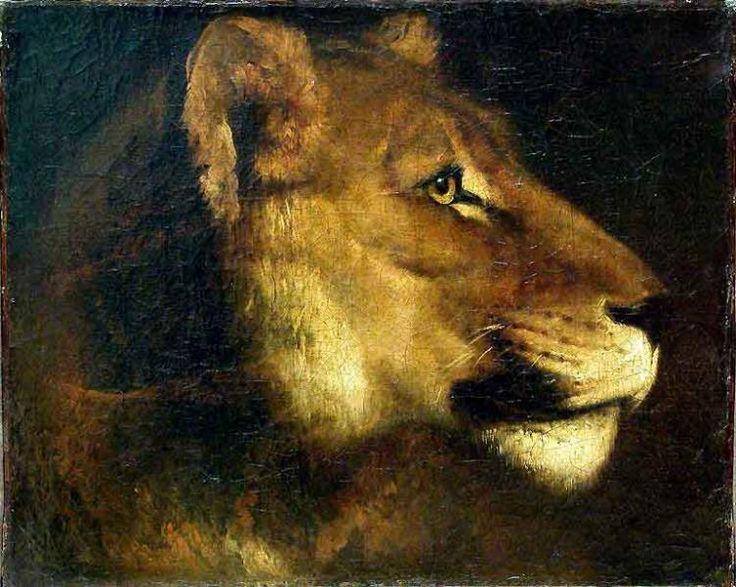 Теодор Жерико -  Head of lioness   - Открыть в полный размер