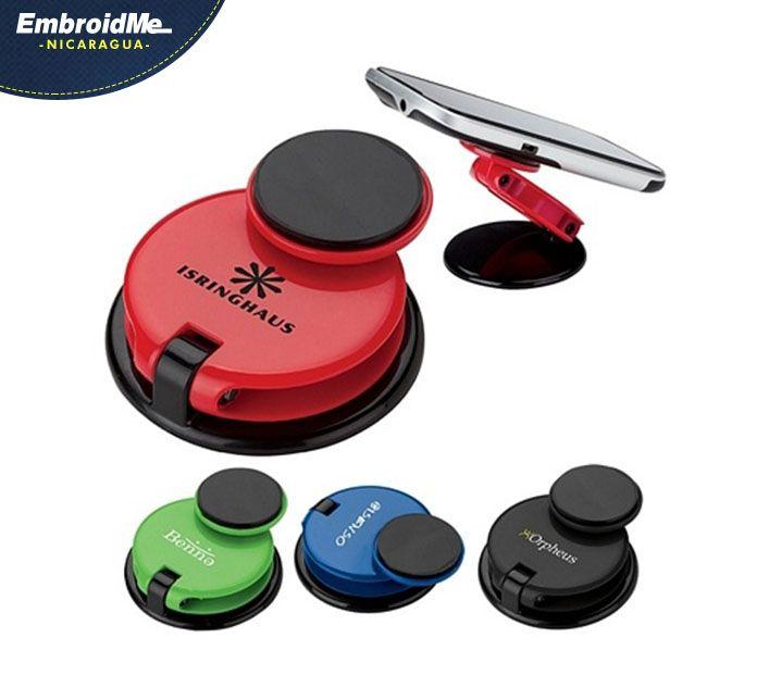 """Soporte de escritorio para teléfono celular  Colores: Rojo, Azul, Verde, Negro Área de impresión: 1/2"""" ancho x 1"""" alto"""