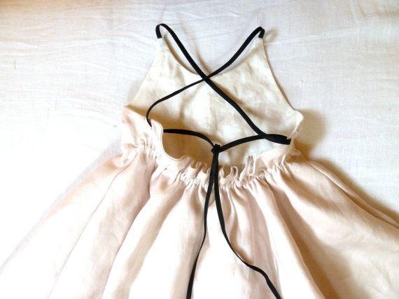 RESERVED: Linen Dress with Black Cross от HarrietsHaberdashery