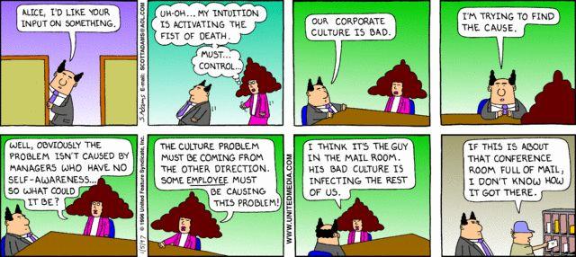 Corporate culture comics and cartoons - Organizational ...