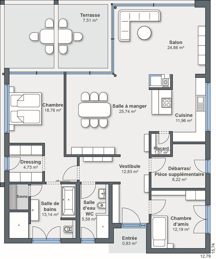 97 best Architektur images on Pinterest Architecture, Bungalow and - plan de maisons modernes
