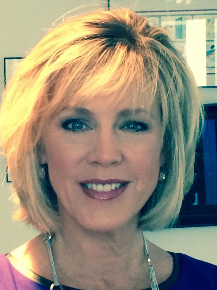Deborah Norville's new haircut, with front and back photos