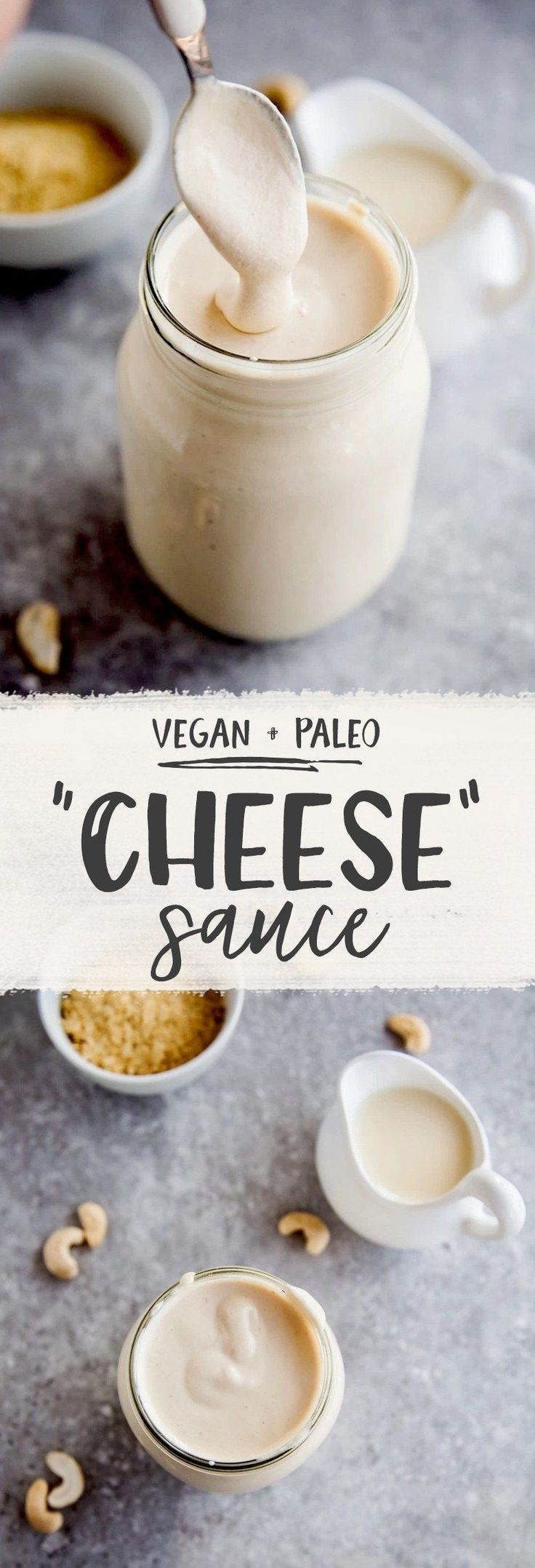 Cashew Cheese Sauce replace almond milk with the sour cream stuff and water. Like 2 tbsp of sour cream and 1/2 cup of water. Add garlic salt instead of regular salt.