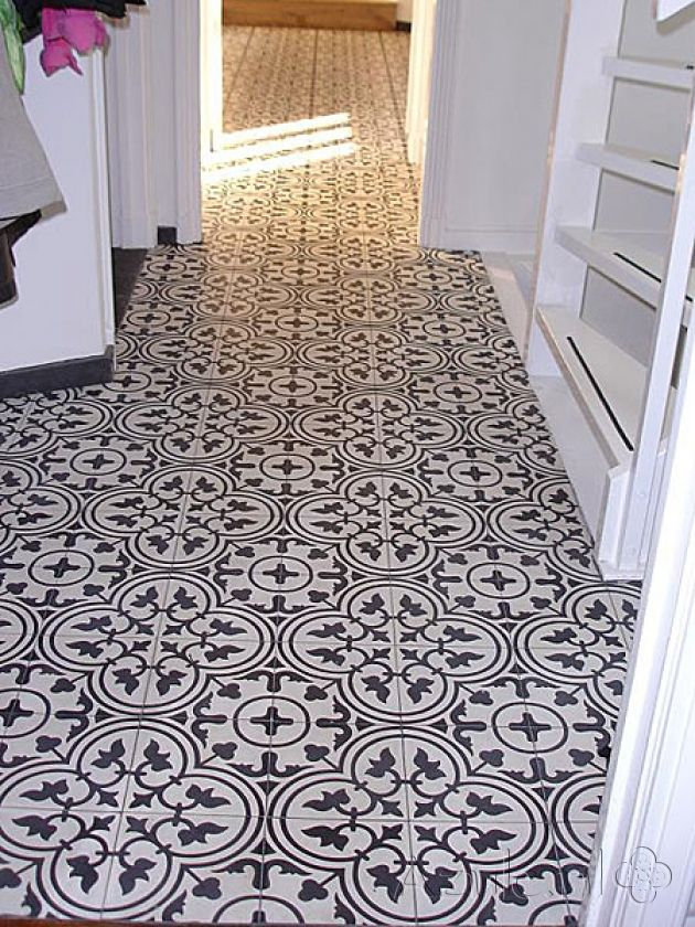 Cement tiles Hall - negra 03 - Project van Designtegels.nl