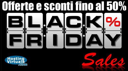 """Black Friday: sconti per domini, hosting, cloud e pec Oggi è il Venerdì Nero meglio conosciuto come """"Black Friday"""", il giorno dopo la festa del Giorno del Ringraziamento che, soprattutto negli USA, rappresenta il momento in cui iniziano gli acquisti dei regali di Natale. http://www.hostingvirtuale.com/blog/black-friday-sconti-per-domini-hosting-cloud-e-pec-5089.html #blackfriday #webhosting"""