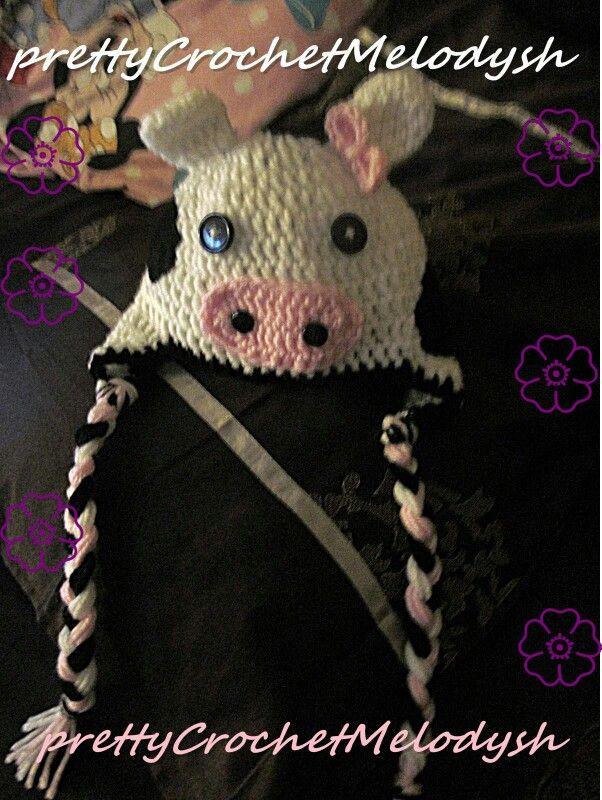 Vaca crochet hat