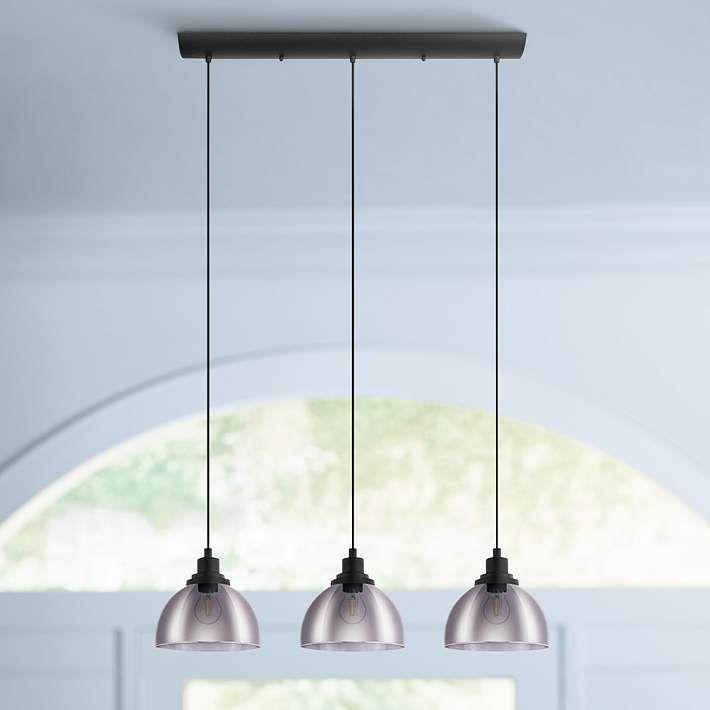 Eglo Beleser 7 3 4 Wide Matte Black 3 Light Pendant Light 85r81 Lamps Plus In 2021 Transitional Pendant Lighting Pendant Light Pendant Light Styles