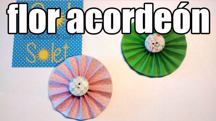 En este nuevo vídeo tutorial te enseño como hacer flores de papel de forma muy fácil y sencilla para decorar tus creaciones-manualidades-scrapbook.