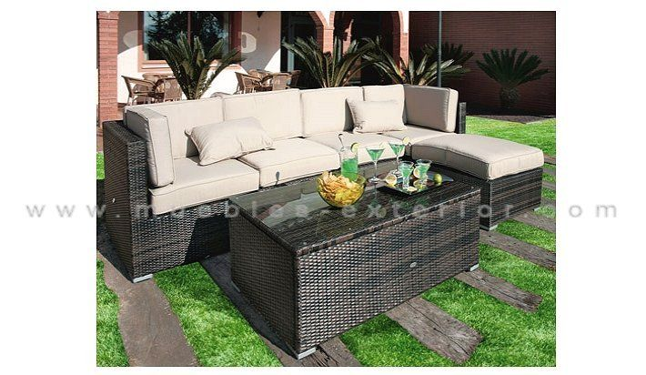 7 best images about muebles de exterior rattan on pinterest for Sofa exterior rattan sintetico