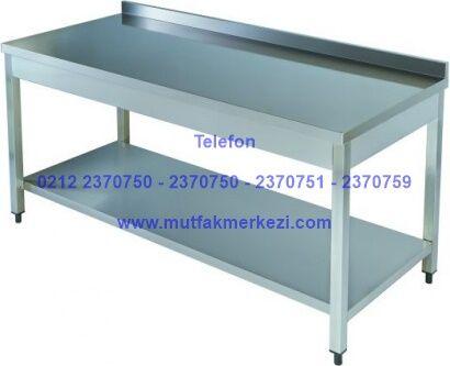 Paslanmaz Mutfak Tezgahı TA606D:Paslanmaz çelikten imal edilmiş mutfak tezgahlarından olan bu paslanmaz mutfak tezgahı alt raflı ve sırtlıklı imalatıyla son derece kullanışlıdır.Paslanmaz mutfak tezgahını yemekhanelerde,otellerde,restoranlarda gönül rahatlığıyla kullanabilirsiniz - Paslanmaz mutfak tezgahı satış telefonu 0212 2370749  https://mutfakmerkezi.com/paslanmaz-tezgahlar-davlumbazlar-raflar-duvar-dolaplari/paslanmaz-tezgahlar/paslanmaz-mutfak-tezgahi-detail