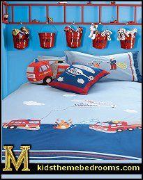 Fire Truck Theme Bedrooms   Fire Engine Bedroom Decorating   Fire Truck  Theme Beds   Firemen Bedroom Ideas   Firefighter Bedroom Accessories    Fireman ...