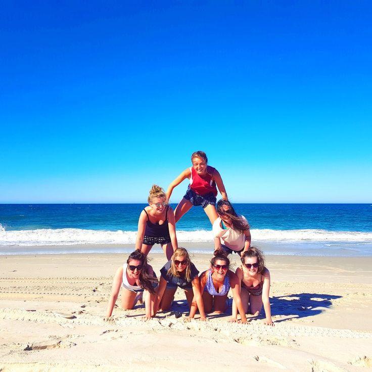 Human pyramid! Bribie island