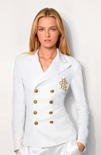 Ralph Lauren structured white jacket