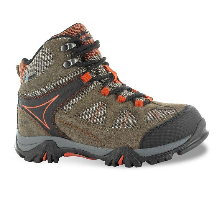Hi-Tec Altitude Lite I Jr. Boys' Mid-Top Waterproof Hiking Boots, Size: 10 T, Brown