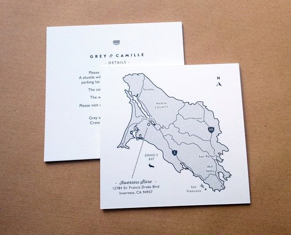 details card and map card