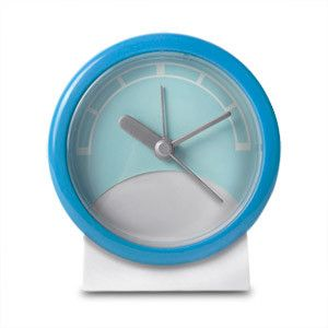 Stand Up Analog Alarm Clock (Blue/White)